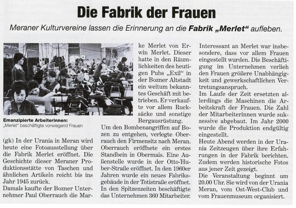 Tageszeitung - Karin Gamper