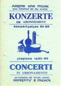 kONZERTKALENDER 85-86